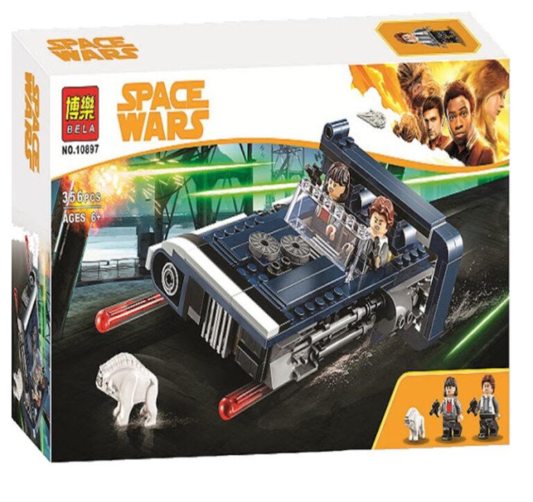 Конструктор Bl Звёздные войны «Спидер Хана Соло» 10897 (Star Wars 75209) 356 деталей