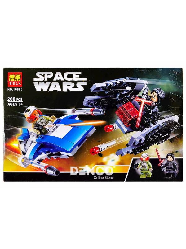 Конструктор Bl «Истребитель типа А против бесшумного истребителя СИД» 10896 (Star Wars 75196) / 200 деталей