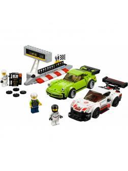 Конструктор Speeds Champion «Champion Porsche 911 RSR и 911 Turbo 3.0» 10946 (Speed Champions 75888) 409 деталей