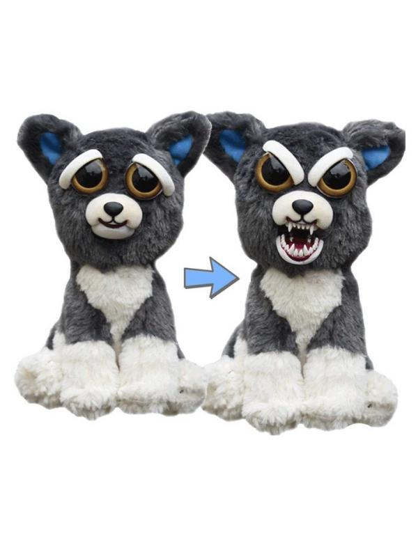 Мягкая игрушка Feisty Pets «Злой / Добрый Собака Сем» Хищники / 22 см.