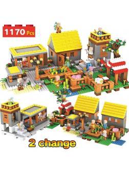 Конструктор LX MY WORLD «Деревня» А057 (Minecraft 21128) 1170 деталей