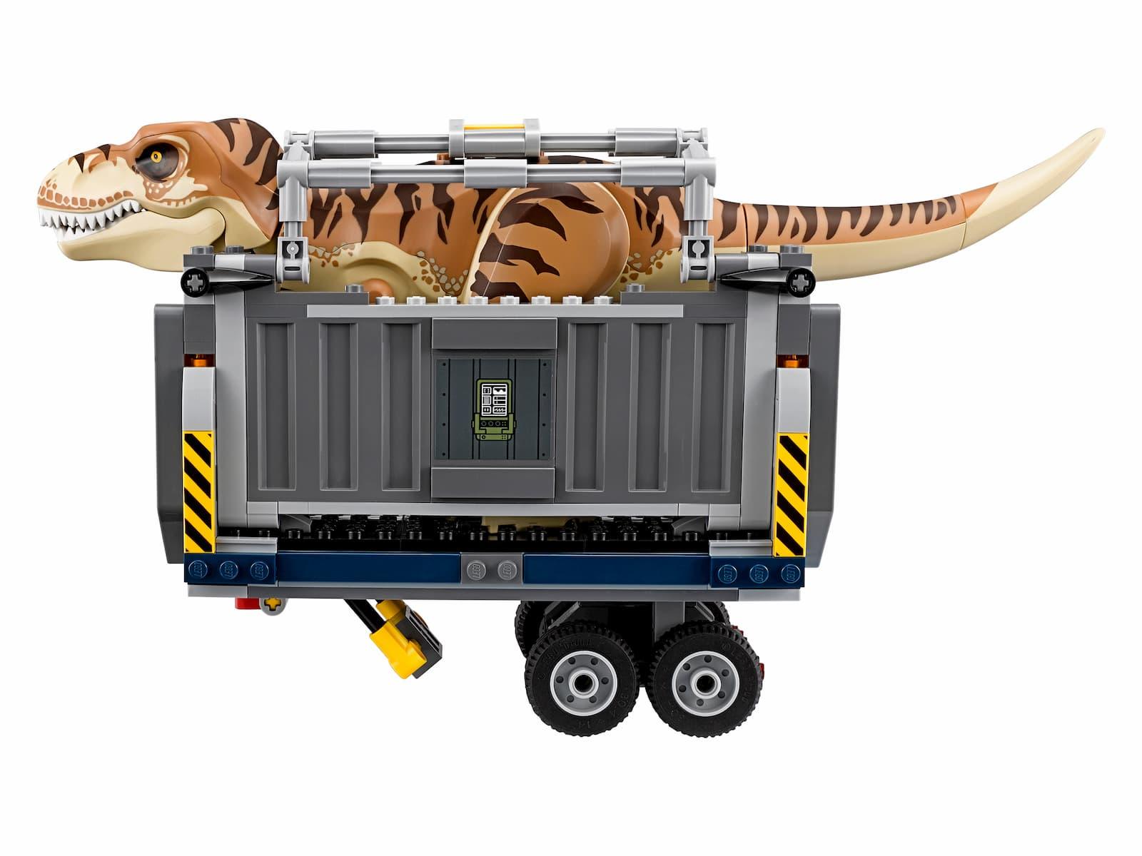 Конструктор Ll «Транспорт для перевозки Ти-Рекса» 39116 (Jurassic World 75933) / 638 деталей