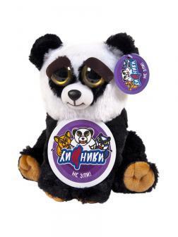 Мягкая игрушка Feisty Pets Злая / Добрая Панда «Бобби Каратист / Black Belt Bobby» Хищники  / 22 см.