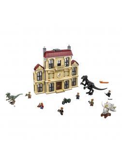 Конструктор Ll «Нападение Индораптора на поместье Локвуд» 39118 (Jurassic World 75930) 1051 деталь
