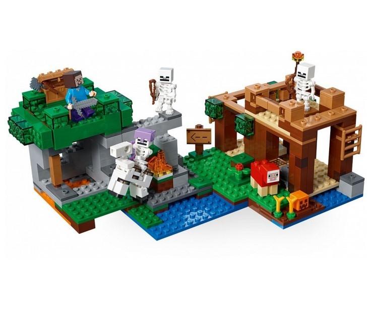 Конструктор Ll «Нападение армии скелетов» 33227 (Minecraft 21146) / 462 детали