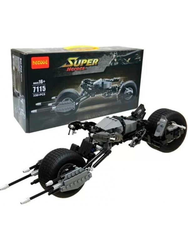 Конструктор Super Heroes «Крутой Мотоцикл Бэтмена» 7115 (Bat-Pod 5004590) 338 деталей