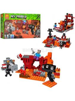 Конструктор MY WORLD «Бой в Подземелье» 33190 (Minecraft) 287 деталей