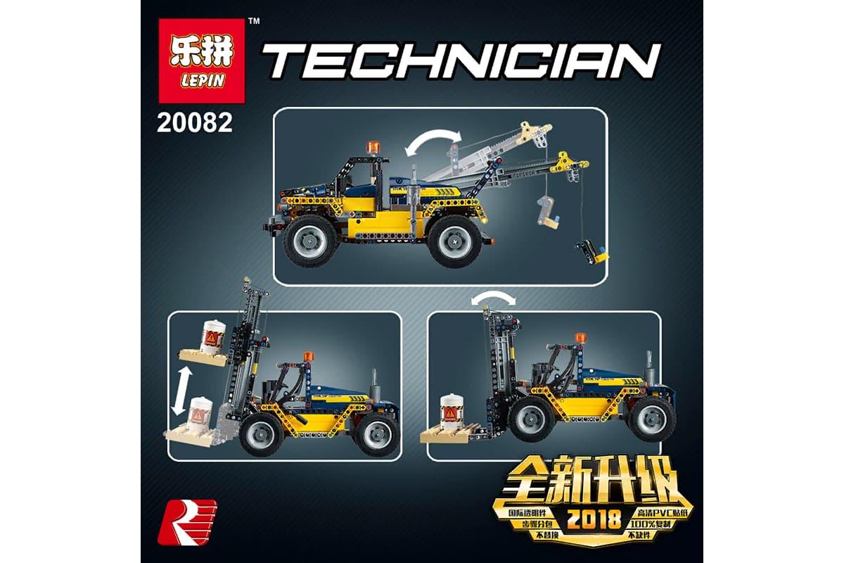 Конструктор Lp «Сверхмощный вилочный погрузчик» 20082 (Technic 42079) / 663 детали