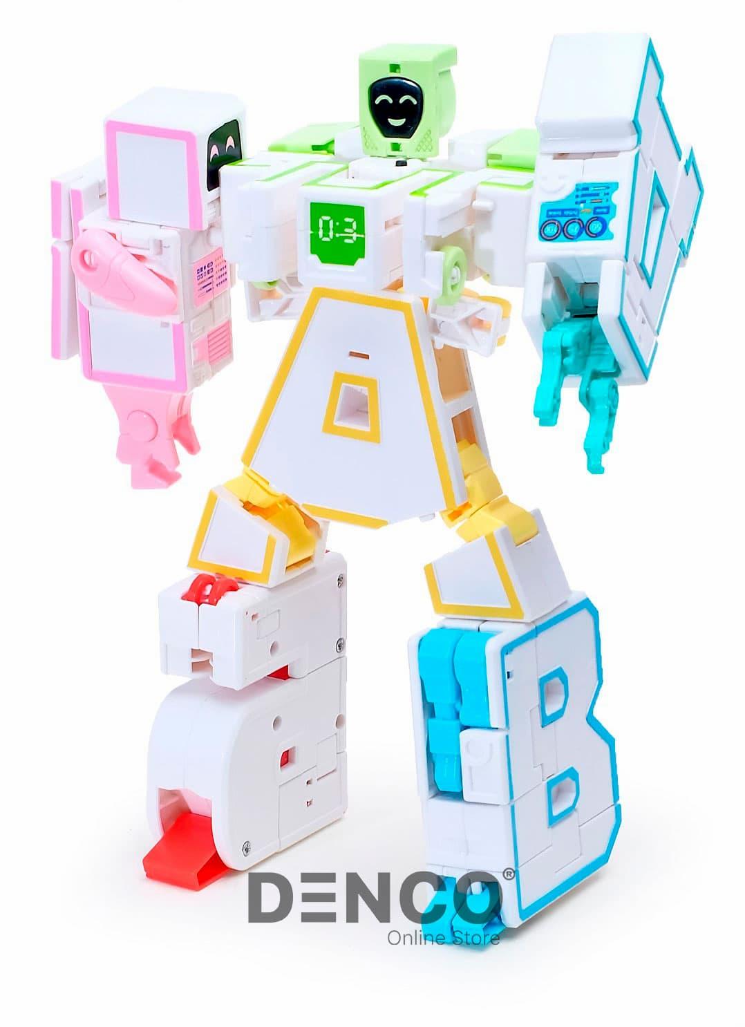Буква-Трансформер Алфавит Е «Робот-Косметолог» Домашний Защитник