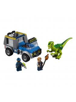 Конструктор Bl «Грузовик спасателей для перевозки раптора» 10919 (Juniors Jurassic World 10757) 102 детали