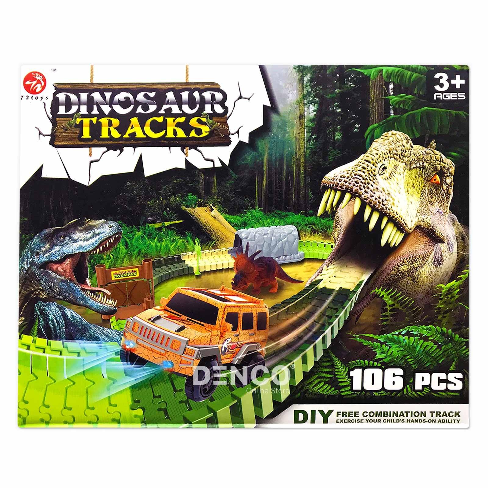 Большой гибкий трек «Динозавр Трек» 106 деталей