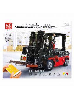 Конструктор Mould King «Вилочный погрузчик — Custom Forklift Mk II RC APP» 13106  (MOC-3681) 1719 деталей