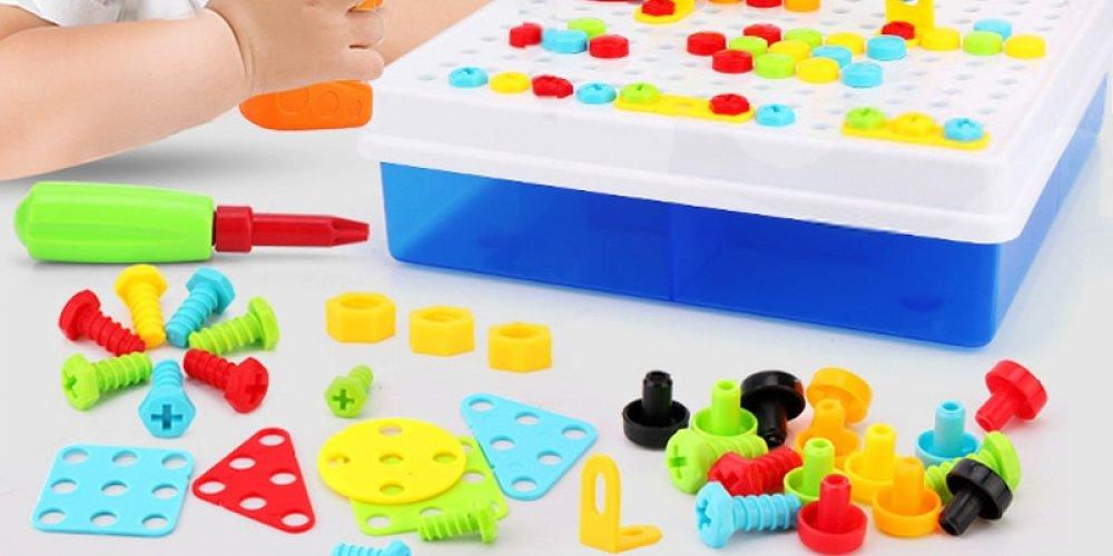 Мозаика-конструктор Magic Puzzle Plate с шуруповертом