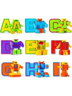 Буквы-Трансформеры Английский алфавит «Alphabet Robots» (26 букв)