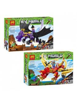 Конструктор Ll «Битва драконов» 33160 (Minecraft) 2 шт.