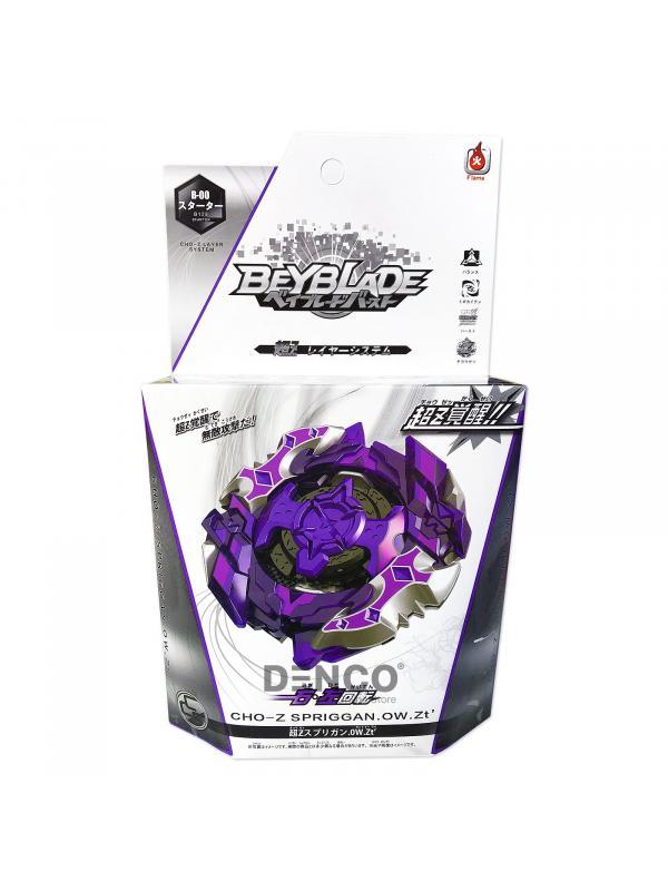 Волчок BEYBLADE Burst Фиолетовый Чо-Зет Спрайзен С5 (Cho-Z SPRIGGAN) B-128 от Flame с Запускателем