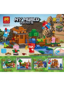 Конструктор Ll MY WORLD «Жилье на воде» 33171 (Minecraft) 2 шт.