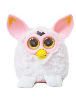 Фёрби Пикси Белый с розовыми ушками
