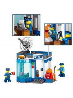 Конструктор Ll Сити «Полицейский пост и мобильная тюрьма» 28005 (City) 2 шт.