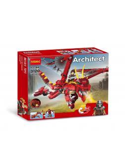 Конструктор Decool Architect  3 в 1 «Красный дракон» 3120 486 деталей