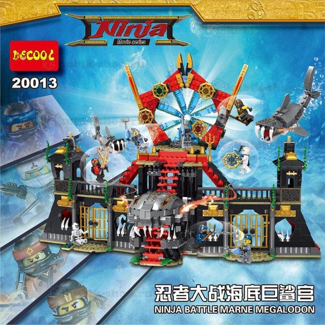 Конструктор DECOOL «Нападение Мегалодона» 20013 (НиндзяГо) 1171 деталь