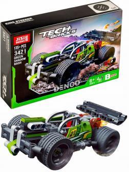 Конструктор JiSi Bricks «Зеленый гоночный автомобиль» 3421 (Technic 42072) / 135 деталей