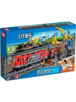 Конструктор Lp «Мощный грузовой поезд» 02009 (City 60098) / 1033 детали