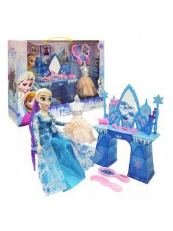 Набор Холодное сердце «Туалетный столик Эльзы» голубой (с манекеном) Frozen