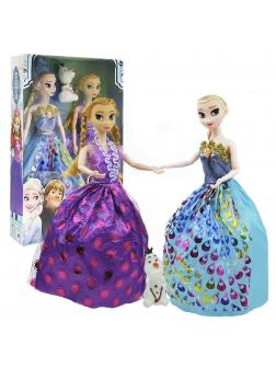Куклы Холодное сердце «Анна, Эльза и Олаф» Frozen 29 см (шарнирные)