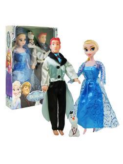 Куклы Холодное сердце «Эльза, Принц Ханс и Олаф» Frozen 29 см
