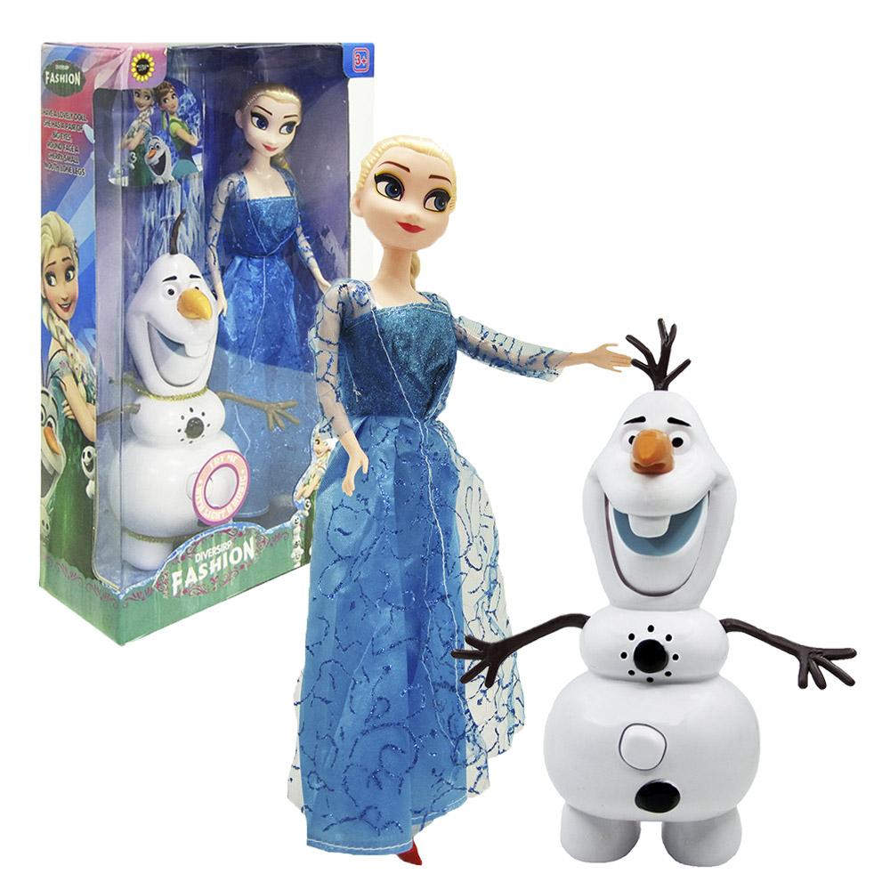Кукла Холодное сердце «Эльза и Олаф музыкальный» Frozen