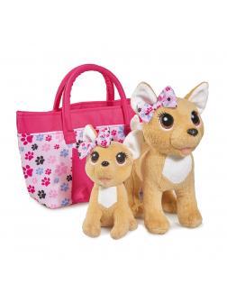 Плюшевые собачки Чихуахуа «Счастливая семья» 2 собачки в сумочке