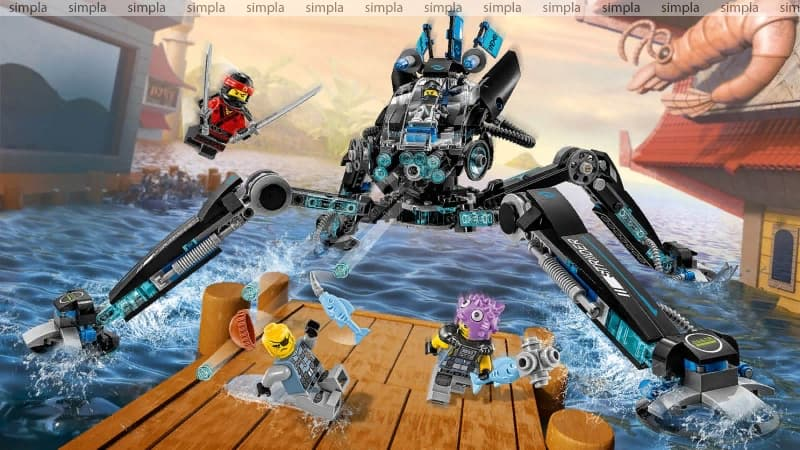 Конструктор Ll «Водяной робот» 31068 (НиндзяГо 70611) 518 деталей