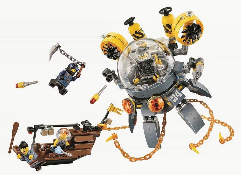 Конструктор Bl «Летающая подводная лодка» 10725 (НиндзяГо 70610) / 368 деталей