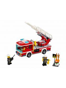 Конструктор Lp «Пожарный автомобиль с лестницей» 02054 (City 60107) / 239 деталей