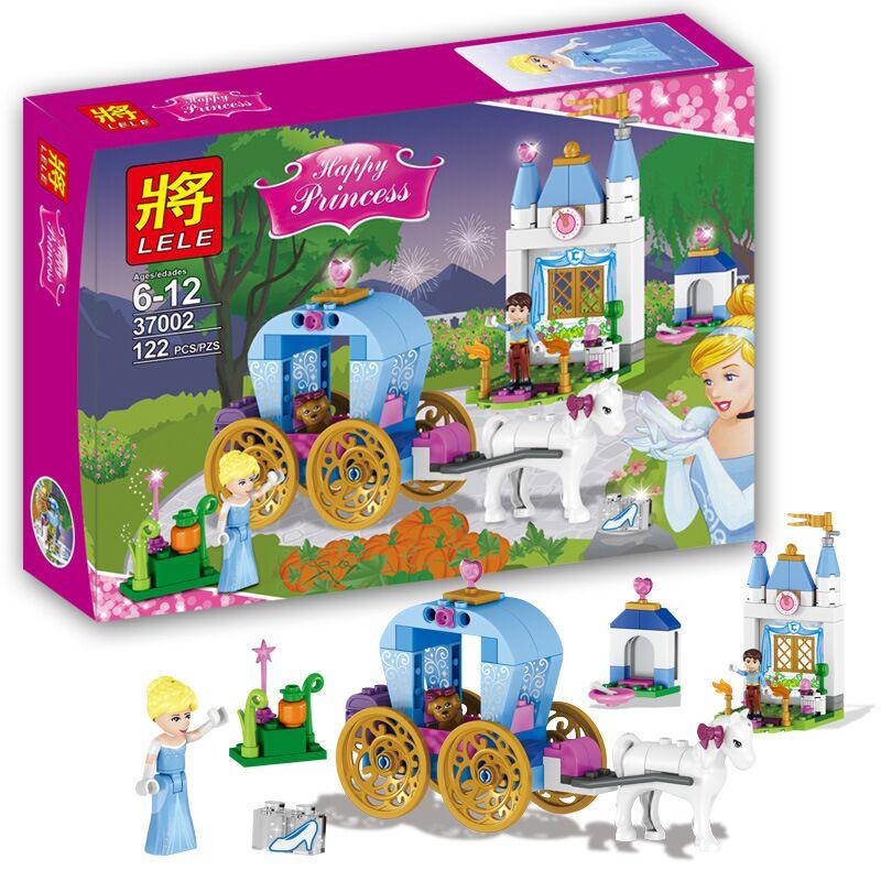 Конструктор Ll «Заколдованная карета Золушки» 37002 (Disney Princess) / 122 детали