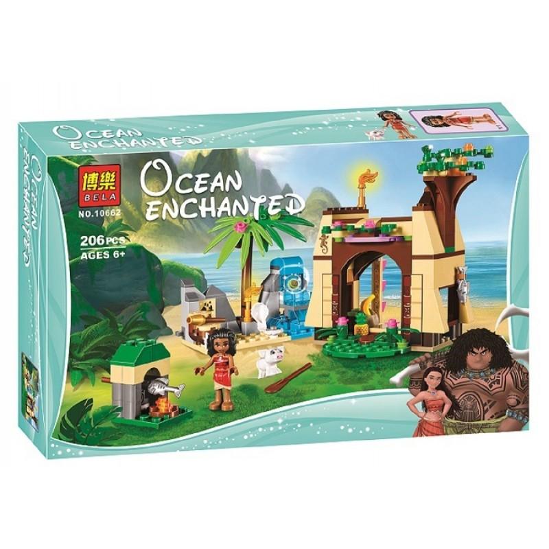 Конструктор Bl Ocean Enchanted «Приключения Моаны на затерянном острове» 10662 (Disney Princesses 41149) 206 деталей