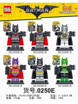Конструктор PIN BA Batman 0250Е-12 6 шт.