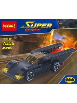 Конструктор Decool Super Heroes «Бэтмобиль» 7005 45 деталей