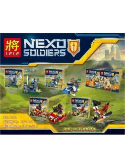 Конструкторы Ll Nexo Soldiers 79312 (Нексо Найтс) 4 шт.