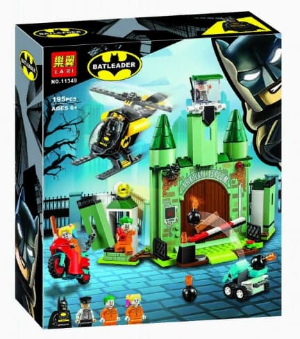 Конструктор Lari «Бэтмен и побег Джокера» 11349 (Super Heroes 76138) / 195 деталей