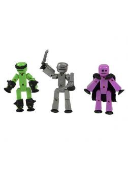 Набор 3 фигурки Stikbot Off the Grid с оружием