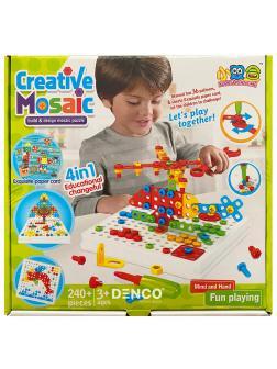 Конструктор Creative Mosaic Панель с отверткой / 240 деталей