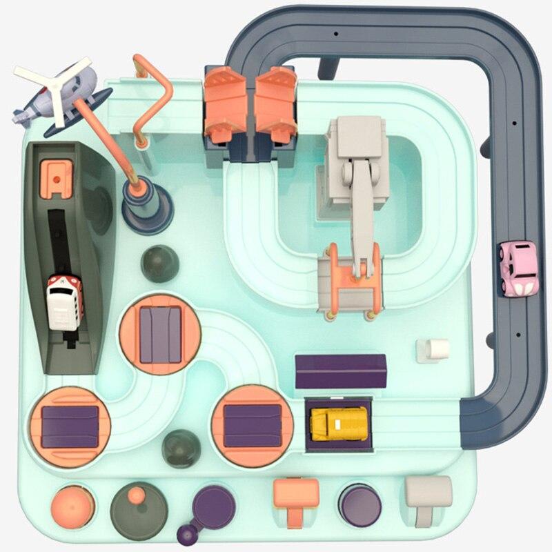 Детский трек-головоломка ССF «Гонки» с машинками и вертолетом