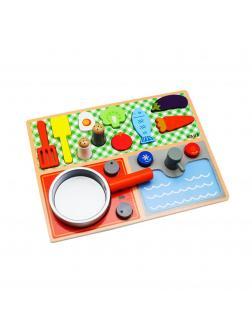 Деревянный игровой набор - развивашка Кухня. KABI