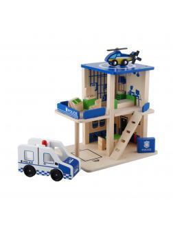 Деревянный полицейский участок. Игровой набор.