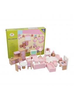 Набор мебели для кукольного домика. Розовая/Сиреневая