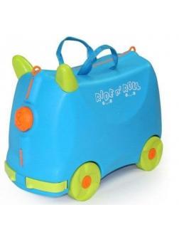 Чемодан-Каталка голубой Ride n' Roll (Райд Н' Ролл). Размер S.