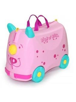 Чемодан-Каталка розовый Ride n' Roll (Райд Н' Ролл). Размер S.