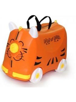 Чемодан-Каталка оранжевый Ride n' Roll (Райд Н' Ролл). Размер S.